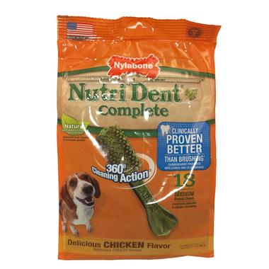 Nutri Dent Complete Dental Chews Chicken Medium Size 18 Pack