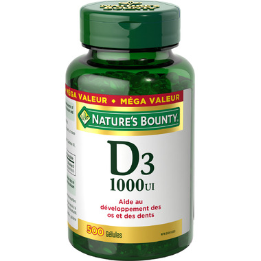 Nature\'s Bounty Vitamin D3 Softgels 1000 IU