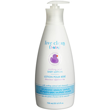 Live Clean Baby Soothing Baby Lotion