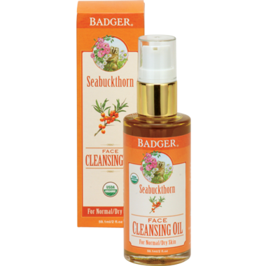 Badger Seabuckthorn Face Cleansing Oil For Normal or Dry Skin