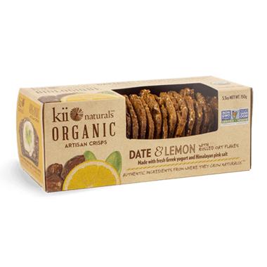 Kii Naturals Artisan Crisps Organic Date and Lemon