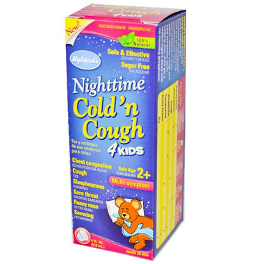 Hyland\'s Nighttime Cold & Cough 4 Kids