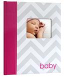Pearhead Babybook Chevron Pink