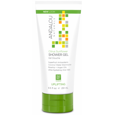 ANDALOU naturals Citrus Sunflower Uplifting Shower Gel
