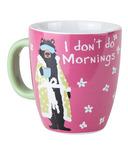 Little Blue House Ceramic Mug I Don't Do Mornings