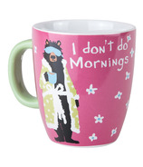 Little Blue House Ceramic Mug I Don't Do Mornings