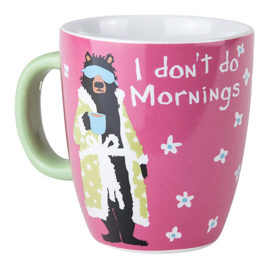 Little Blue House Ceramic Mug I Don\'t Do Mornings