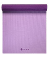 Gaiam Premium Longer/Wider Yoga Mat Plum Jam