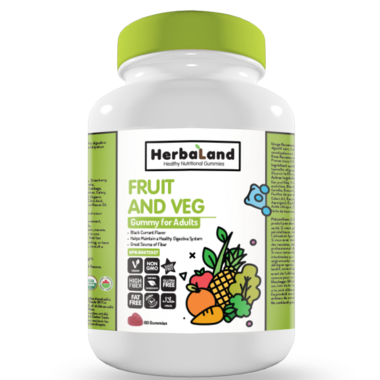 Herbaland Gummy for Adults Organic Fruit, Veg & Fiber