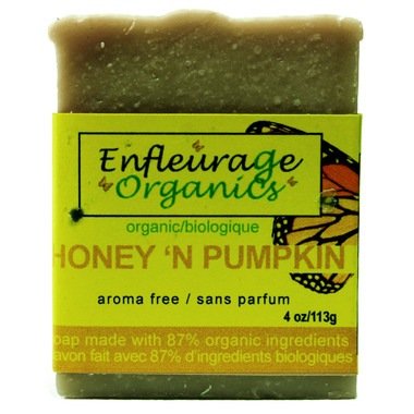 Enfleurage Organics Bar Soap Honey N\' Pumpkin
