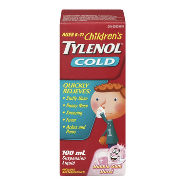 Children\'s Tylenol Cold Suspension Liquid