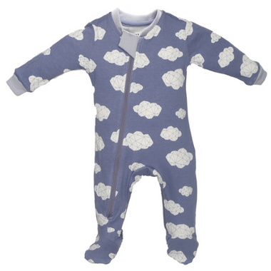 ZippyJamz Organic Cotton Sleeper Sleepy Clouds