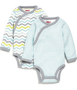 Skip Hop Starry Chevron Side-Snap Long Sleeve Bodysuit Blue