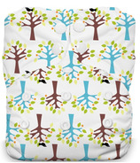 Thirsties Natural One Size All In One Snap Blackbird
