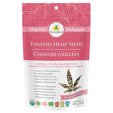 Ecoideas Organic Original Toasted Hemp Seeds