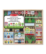 Melissa & Doug Wooden Town Play Set