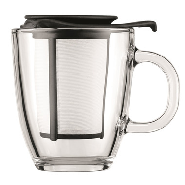 Bodum YO-YO SET Mug and Tea Strainer Black