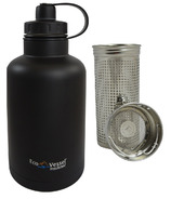 Eco Vessel BOSS Vacuum Insulated Stainless Steel Growler Bottle Black