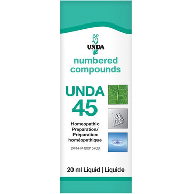 UNDA Numbered Compounds UNDA 45 Homeopathic Preparation