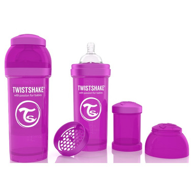 Twistshake Anti-Colic 260ml Bottle Purple