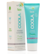 COOLA Face Mineral Sunscreen SPF 30 Matte Cucumber
