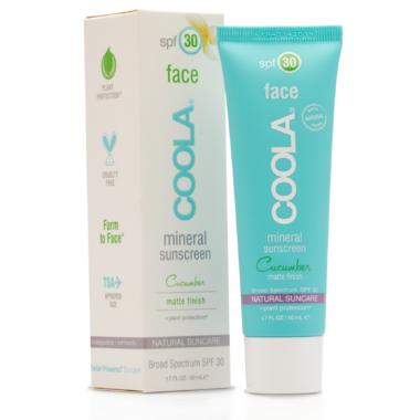 COOLA Face Mineral Sunscreen SPF 30 Matte Cucumber