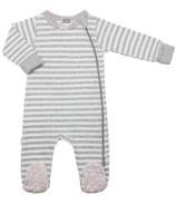 Kushies Side Zip Sleeper Light Grey Stripes