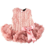 Olivia Rose Rosette Onesie Pettidress Dusty Pink