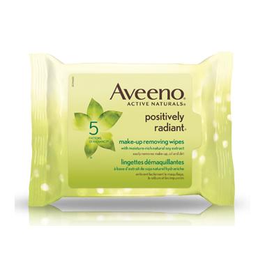 Aveeno Positively Radiant Make-up Removing Wipes