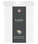 Kushies Portable Playpen Fitted Sheet Ornament Grey