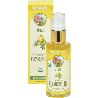 Badger Argan Face Cleansing Oil For All Skin Types