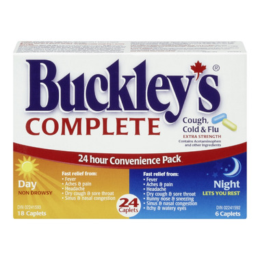 Buckley\'s Complete Extra Strength Day + Night Pack