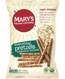 Mary's Organic Crackers Everything Pretzels