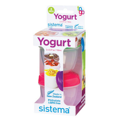 Sistema Yogurt Pot To Go 2 Pack