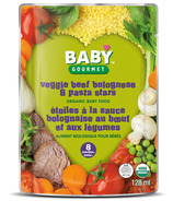 Baby Gourmet Veggie Beef Bolognese and Pasta Stars Baby Food