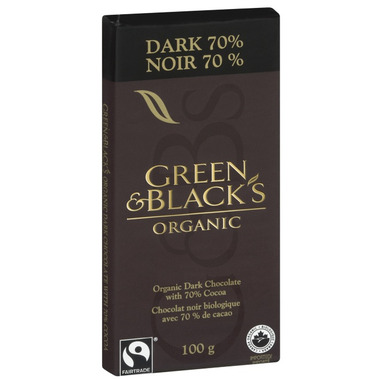 Green & Black\'s Organic Dark Chocolate 70% Bar