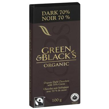Green & Black\'s Organic Dark Chocolate 70% Bar