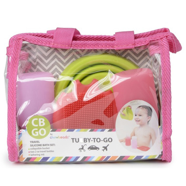 Chewbeads Tubby to Go Bath Set Pink