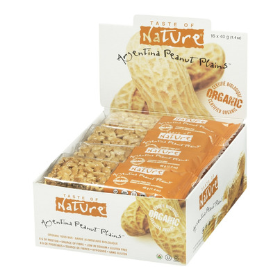 Buy taste of nature organic food bars case of 16 x 40 g for Food bar t zone