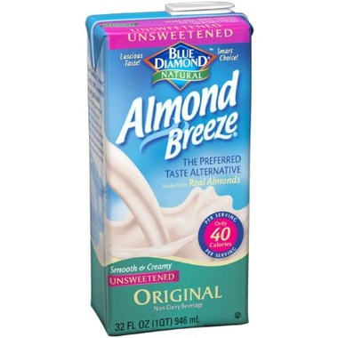 Blue Diamond Almond Milk Ingredients