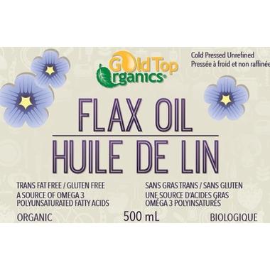 Gold Top Organics Organic Flax Seed Oil