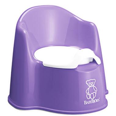 BabyBjorn Potty Chair Purple & White