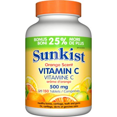 Sunkist Vitamin C Orange Scent Easy Swallow