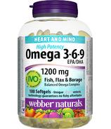 Webber Naturals High Potency Omega 3-6-9 EPA/DHA