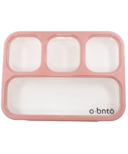 o bnto Bento Box 4 Compartment Pink Blush