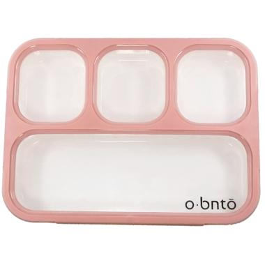 o bnto Bento Box 4 Compartment Pink Blush