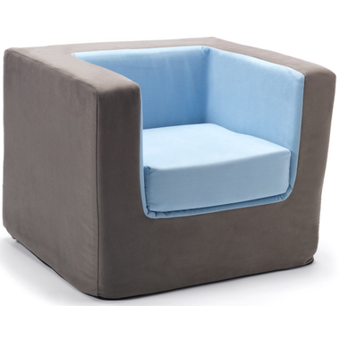Monte Design Cubino Chair Charcoal & Blue