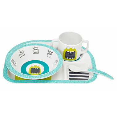 Lassig Little Monsters Dish Set Bouncing Bob