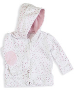 aden + anais Long Sleeve Jersey Hoodie Lovely Mini Hearts