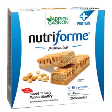 Adrien Gagnon Nutriforme Protein+ Bars Sweet N\'Salty Peanut Medley